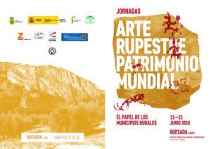 Flyer Jornadas Arte Rupestre Quesada a